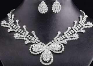 Bridal Wedding Jewelry European And American Style Crystal Earrings