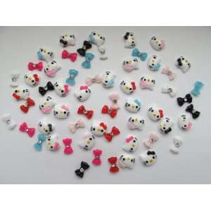Nail Art 3d 55 Pieces Mix Color Hello Kitty/Bow /Rhinestone for Nails