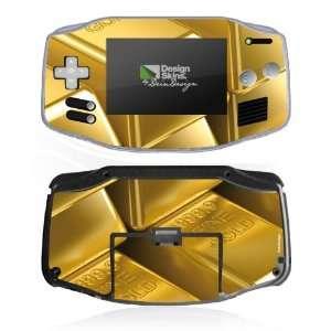 for Nintendo Game Boy Advance   Gold Bars Design Folie Electronics