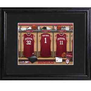 Indiana Hoosiers Personalized College Basketball Locker Room Print