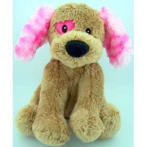 6 Valentines Day Heart Toy Teddy Bear Plush Dog Heart Eye