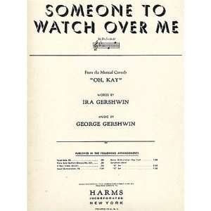 Watch Over Me, Vocal Solo in Eb (Words/Piano/Chords) Lyrics in English