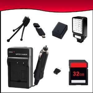 SD Memory Card + USB SD Card Reader + Video Light Kit + Mini Tripod