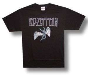 LED ZEPPELIN Icarus SWAN SONG Logo Poster T SHIRT New