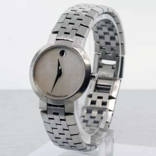 Ladies Mother of Pearl Movado Faceto 84.A1.1845 Watch