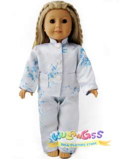 Handmade Chinese Pajamas fits 18 American Girl doll