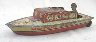Vintage Pre War Tin Pop Pop Motor Boat Excellent in the Box, Japan