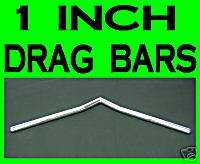 CHROME 1 V DRAG BARS HANDLEBARS DIMPLED WHISKEY BAR 25 0702