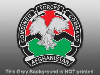 Combined Forces Command Sticker  decal afghanistan logo