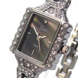 LIMIT Ladies bracelet watch diamante black pearl 6727