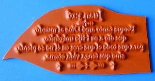 JOHN 316 in SPANISH bible verse UM rubber stamp #11