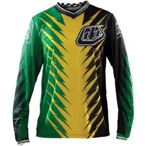 Mens MX/Off Road/Dirt Bike Motorcycle Jersey   Green/Yellow / Medium