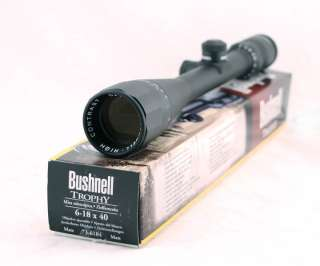 Bushnell 6 18x40 Trophy XLT Rifle Scope Matte A/O Target Knobs 736184