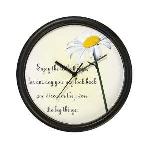 Enjoy the Little Things Positive Thinking Wall Art Clock