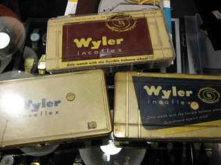 50 YEAR OLD ORIGINAL RARE WYLER SINGLE CASE BAMBOO IN 14K GOLD PLATE
