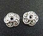 65pcs Tibetan Silver Flowe Bead Caps Findings 7X3mm