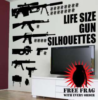 Call of Duty LIFESIZE Machine Gun Decal Stickers COD
