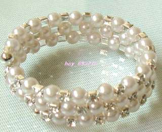 Wholesale 12Pcs 3Row New Fashion Pearl&Rhinestone Bridal/Prom