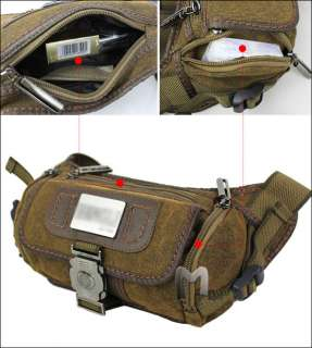 Mens Canvas Chest Shoulder Fanny Pack Belt Waist Bags