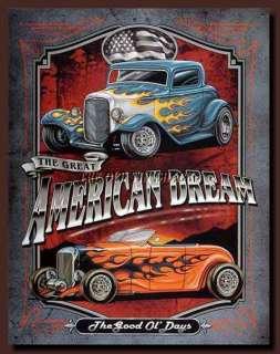 Nostalgic Tin Metal Sign   1950s American Dream #1534