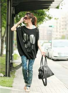 Women Batwing Hollow Cotton Loose T shirt Top 3 Colors 1597