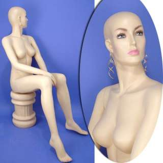 Brand New Sitting Female Mannequin A 25N with Wig# 8339