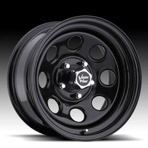 16x8  12 Vision Soft 8 Black Steel Wheels Rims 5x5 5x127 Set of 4