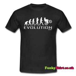 BMX BIKING BIKE APE TO EVOLUTION T SHIRT TSHIRT MENS WOMENS BOYS GIRLS