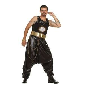 80s Hip Hop Rapper Fancy Dress Pants & Giant Clock Toys