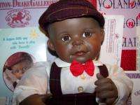 ASHTON DRAKE YOLANDA BELLO BLACK AFRICAN AMERICAN PORCELAIN DOLL DAVID