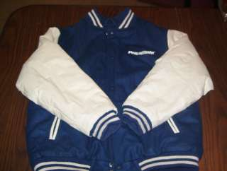 Vtg Penn State Nittany Lions blue embroidered wool varsity jacket, 16
