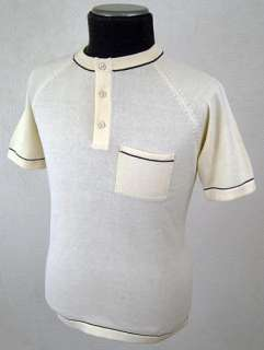 MOD RETRO INDIE SIXTIES NEW MENS KNITTED GRANDDAD COLLAR CYCLING TOP