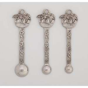 Metal Mini Measuring Spoon Set, Palms Kitchen & Dining