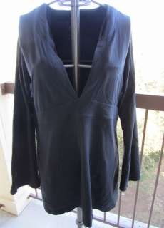 Tranquil Tunic Womens Plus size 1X Black Great for Yoga or Travel