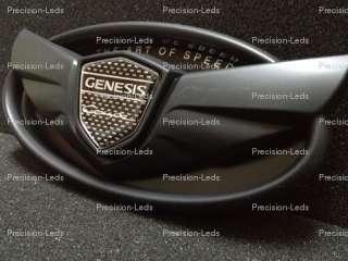 2013 Hyundai genesis coupe carbon fiber flat black wing emblem front