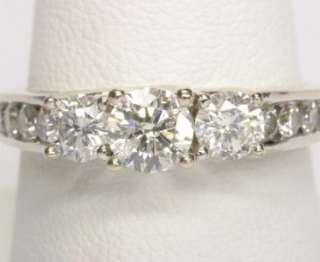 44 CARAT ROUND BRILLIANT CUT DIAMOND ENGAGEMENT 3 STONE RING 14K