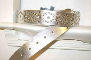 New 2 Assorted Ladies Girls Fashion Belts in Silver & Gold w/ Studs M