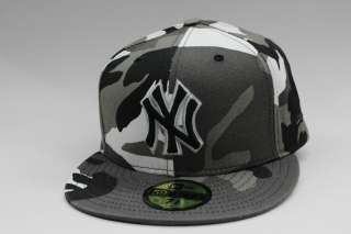 New York Yankees White Black Grey Army Fatigue MLB 59Fifty New Era