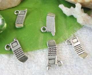 50pcs Tibetan Silver Mobile phone charm A11152