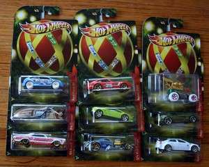 Hot Wheels Holiday Hot Rods 2011 Set of 9