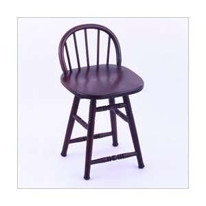 Co. HD 18 High Maple Wood Low Spindle Back Chair: Furniture & Decor