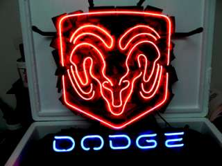 DODGE CAR American Auto Beer Bar Neon Light Sign me |