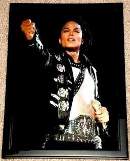 MICHAEL JACKSON 1987 BAD TOUR FRAMED PORTRAIT TRIBUTE