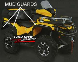 2012 CAN AM OUTLANDER 800 & 1000 MUD GUARDS FENDER EXTENSIONS FLAIRS