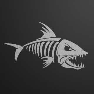 Decal sticker fish bones skull skeleton fishing xrx59 for Bootsaufkleber design