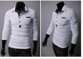 MENS CASUAL FASHION LONG SLEEVE SLIM FIT T SHIRT 2082