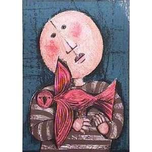 Avec Un Oiseau II by Graciela Rodo boulanger, 10x13