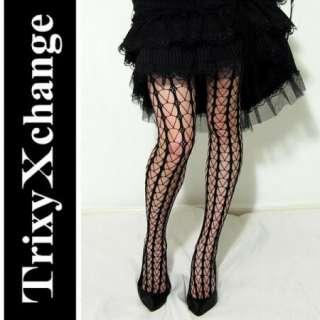 LEVANTE GEONET Black Fishnet Tights Harajuku Clothing