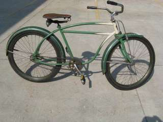 Vintage 26 cruiser Bike Antique Bicycle fat tire rat rod green