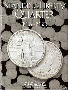 2687 H.E. Harris coin folder Standing Liberty Quarter